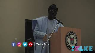 GOV. BABAJIDE SANWO-OLU (LAGOS STATE) DELIVERING HIS GOODWILL MESSAGE IN IBADAN