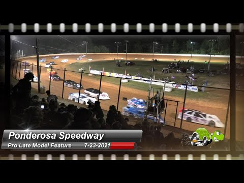 Ponderosa Speedway - Pro Late Model Feature - 7/23/2021 - dirt track racing video image