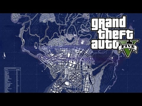 GTA 5 - Map Size, Scale and Perspective (GTA V) - default