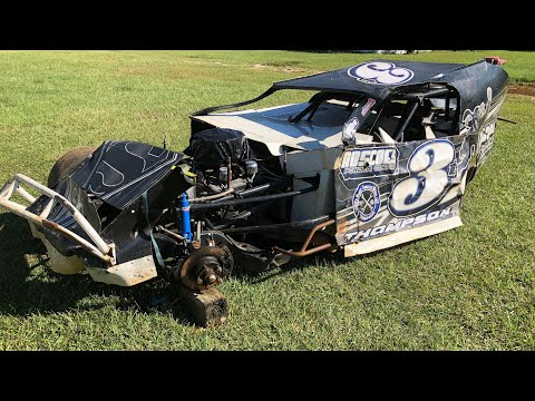 (Big Wreck)MidEast Modified Championship Race 1 Fayetteville Motor Speedway9-18-21 - dirt track racing video image