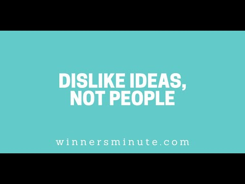 Dislike Ideas, Not People // The Winner's Minute With Mac Hammond