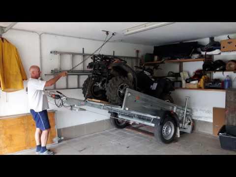 Quad, Anhänger und Auto platzsparend in Garage - UChMBShjnavY4Y6KxW7m511A