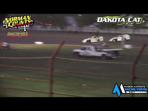 Norman County Raceway Dakota Cat Shootout IMCA Modified A-Main (6/17/21) - dirt track racing video image