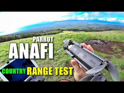 Parrot ANAFI Range Test in Country - How far will it go? [No
