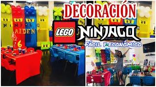 ASI PREPARE LA FIESTA LEGO NINJAGO #ideasdedecoracion #legoninjago