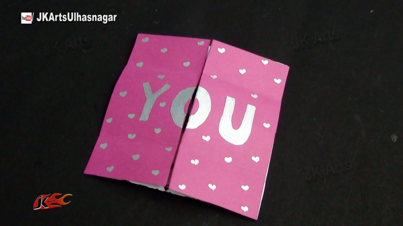 Easy Endless Love Valentine Card Tutorial How To Make Jk Arts