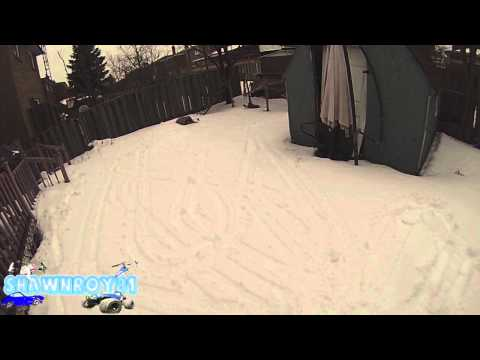 Taking my Kyosho Blizzard S/R for a Rip in the Backyard - shawnroy81