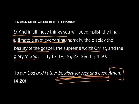 Philippians 14 // Summary of Philippians in Nine Steps