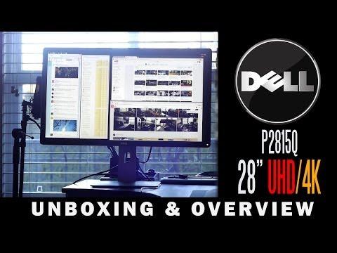 Dell P2815Q 28 Inch 4K/Ultra HD Monitor Unboxing & Overview - UCvIbgcm10GqMdwKho8C1Zmw
