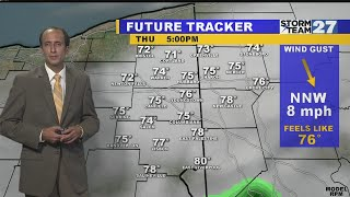 Forecast Update: Lowering humidity later Thursday
