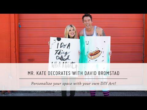Mr. Kate Decorates with David Bromstad   DIY Painting and Decor   Interior Design