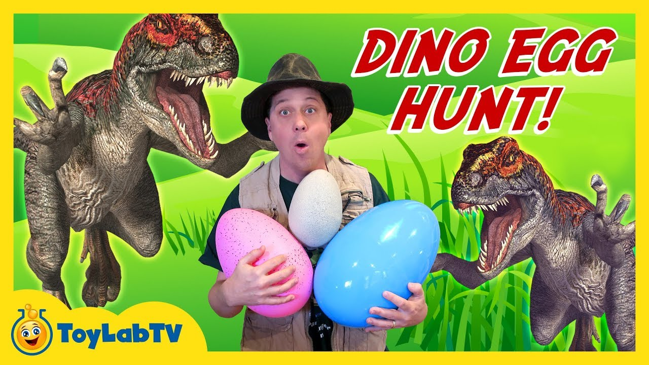 DINOSAUR TOY HUNT w/ Egg Surprise, Lego Batman Movie Kids Toys Collection Opening, Gummy Snake Candy