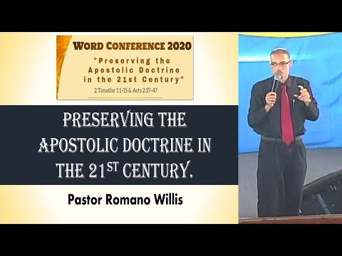 Bethel United Church of Jesus Christ (Apostolic): Word Conference 2020 Teaching by Elder Romano Will