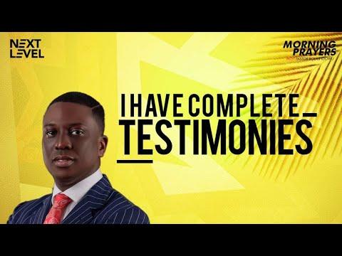 Next Level Prayers  I Have Complete Testimonies  Pst Bolaji Idowu  30th August 2021