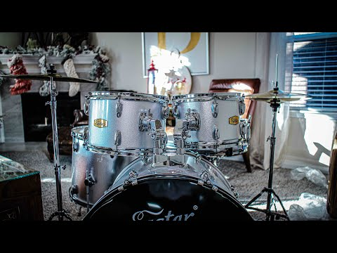 I got a FREE DRUMSET for my daughter //