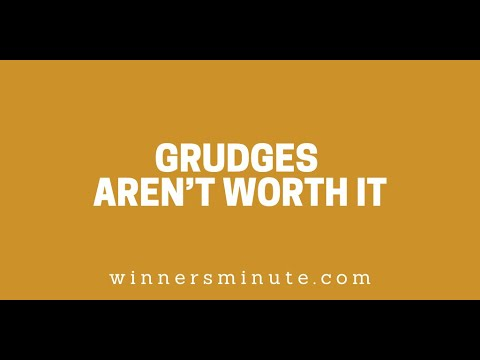 Grudges Arent Worth It // The Winner's Minute With Mac Hammond
