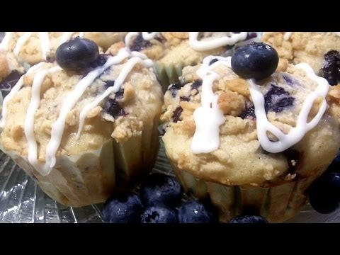 Brunch Blueberry Muffins Recipe- How to make moist, homemade blueberry muffins - UCubwl8dqXbXc-rYE8MOSUnQ