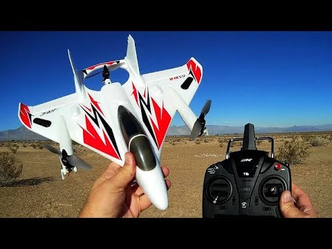 JJRC M02 Brushless VTOL RC Airplane Flight Test Review - UC90A4JdsSoFm1Okfu0DHTuQ