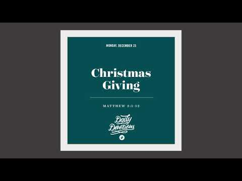 Christmas Giving - Daily Devotion