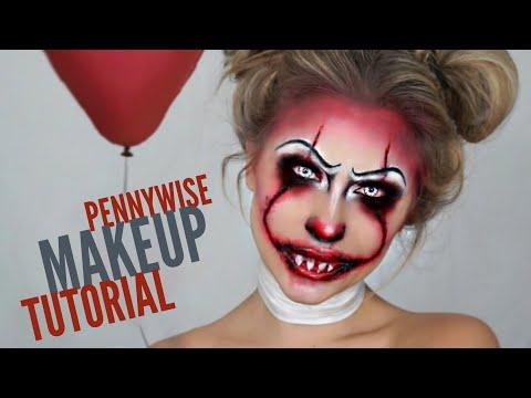 it 2017 - Pennywise Halloween Makeup Tutorial | killer clown | BeeisforBeeauty - UCXYYwdNgc7xIHJYgPLGmUww