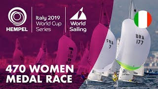 470 Women Medal Race | Hempel World Cup Series Genoa 2019