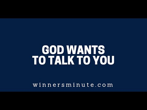God Wants to Talk to You  The Winner's Minute With Mac Hammond