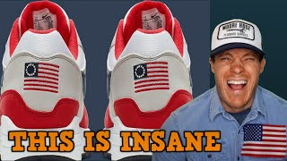 Betsy Ross flag on Nike sneakers is now offensive?!