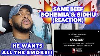 AMERICAN reacts to SAME BEEF - BOHEMIA ft SIDHU MOOSEWALA | I LOVE THIS ENERGY | REACTION