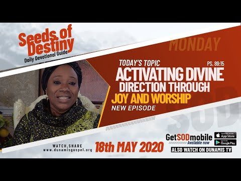 Dr Becky Paul-Enenche -SEEDS OF DESTINY - SEEDS OF DESTINY - MONDAY, 18TH MAY, 2020