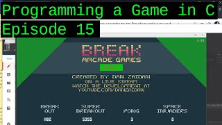 Making a game in C from scratch! Ep 15: [Better Menu, Gameplay HUD, Text Drawing]