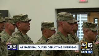 Members of the Army National Guard deployed to the Middle East