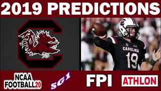 South Carolina Gamecocks 2019 Football Predictions - Comparing Sources