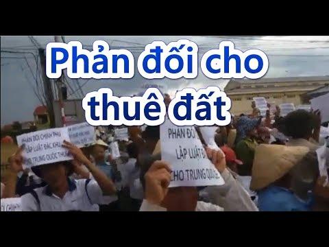 Tường thuật: Dân Quỳnh Lưu biểu tình phản đối VN cho Trung Quốc thuê đất 99 năm ngày 9/6