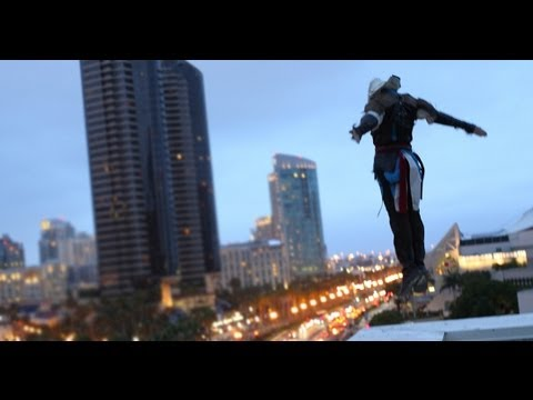 Assassin's Creed 4 Meets Parkour in Real Life - Comic-Con in 4K - UCwgURKfUA7e0Z7_qE3TvBFQ