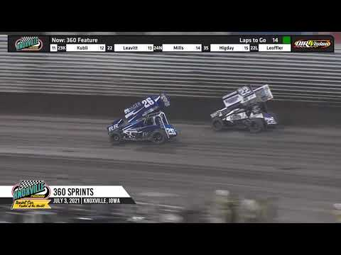 Knoxville Raceway 360 Highlights - July 3, 2021 - dirt track racing video image