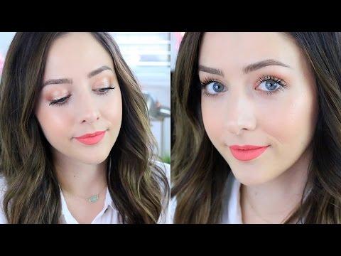 Glowy Summer Makeup Tutorial! Too Faced Sweet Peach Tutorial! - UCsWQWXOPongqZJM5D3B_oRQ