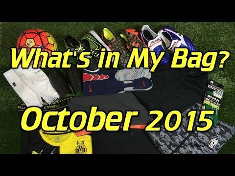 What's In My Soccer Bag - October 2015 - UCUU3lMXc6iDrQw4eZen8COQ