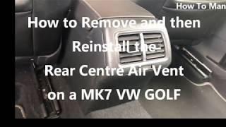 Smontare bocchetta aria Golf 7 posteriore