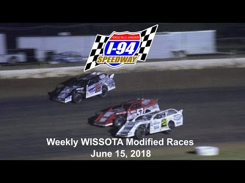 I-94 Speedway 6/16/18 WISSOTA Modified Feature Final Laps  WATCH more at www.dirtracecentral.tv. - dirt track racing video image