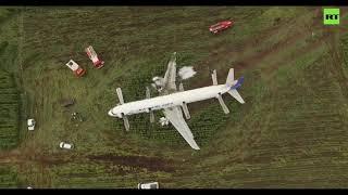 Emergency landing site of bird-stricken Ural Airlines plane