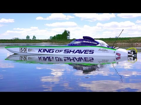 """RC ADVENTURES - 50"""" KiNG OF SHAVES - RC Race Boat - 7.4HP Gas Powered - UCxcjVHL-2o3D6Q9esu05a1Q"""