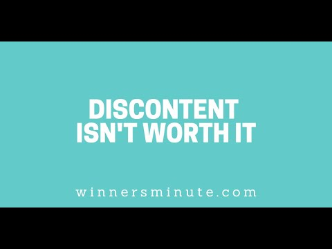 Discontent Isnt Worth It // The Winner's Minute With Mac Hammond