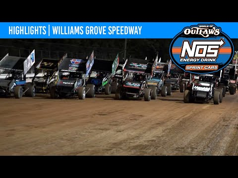 World of Outlaws NOS Energy Drink Sprint Cars Williams Grove Speedway, October 1, 2021 | HIGHLIGHTS - dirt track racing video image