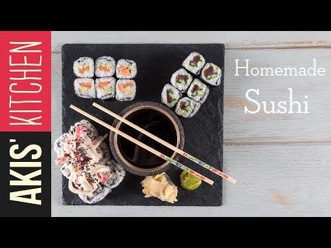 How to make homemade sushi | Akis Kitchen - UCcbNHNmULeU1OoNylpPIRQQ