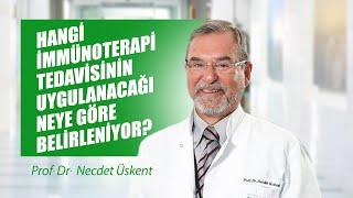[Video] Hangi immünoterapi tedavisinin uygulanacağı neye göre bilrleniyor? - Prof. Dr. Necdet Üskent