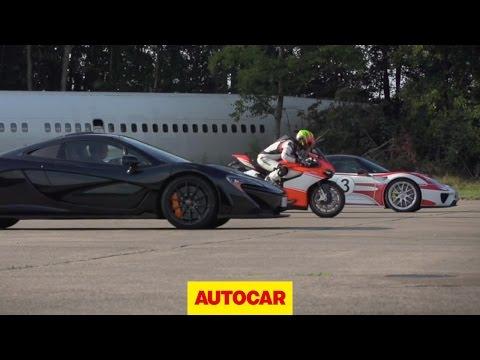 McLaren P1 vs. Porsche 918 Spyder vs. Ducati 1199 Superleggera - drag race - UCIMzhx509wEXMuGkTK-kD9Q