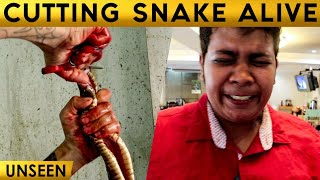 Raw Snake's Heart Tasted | Exclusive Experience | Graphic content