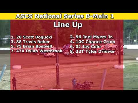 2021 Fred Brownfield Classic, Night 1, ASCS National Series B-Main 1 and 2 - dirt track racing video image