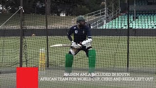 Hashim Amla Included In South African Team For World Cup, Chris And Reeza Left Out