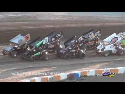 Sprintcar July 20/12 Races @ Ohsweken Speedway FLASHBACK - dirt track racing video image